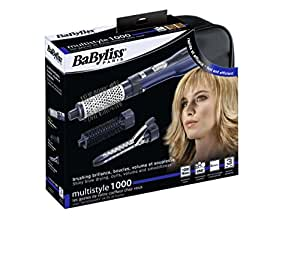 BaByliss AS100E - Cepillo multifuncional con accesorios, 1000 W, color azul
