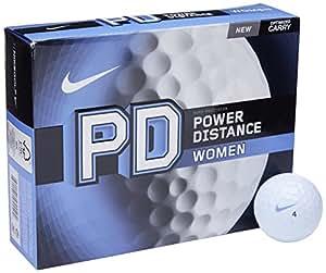 Nike Golf PD Women's Power Distance Golf Balls, White
