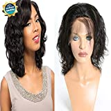 Lace Front Body Wave Wigs for Black Women Re4U Human Hair with Baby Hair African American Wigs (10 Inch, 150% Density)