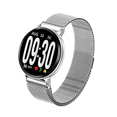 HFXLH Smart Watch Fitness Tracker Heart Rate Blood Pressure Step Sleep Monitoring Wristband Waterproof Sports Watchs Smart Bracelet Estimated Price £43.56 -