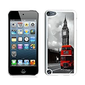 Pop Diy For LG G3 Case Cover London Red Bus Urban Soft Silicone White Cover for Ipod 5th Generations