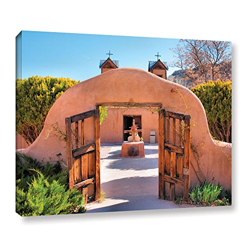 Art Wall 'Gate to Chimayo' Gallery Wrapped Canvas Artwork by Steve Ainsworth, 24 by 32-Inch