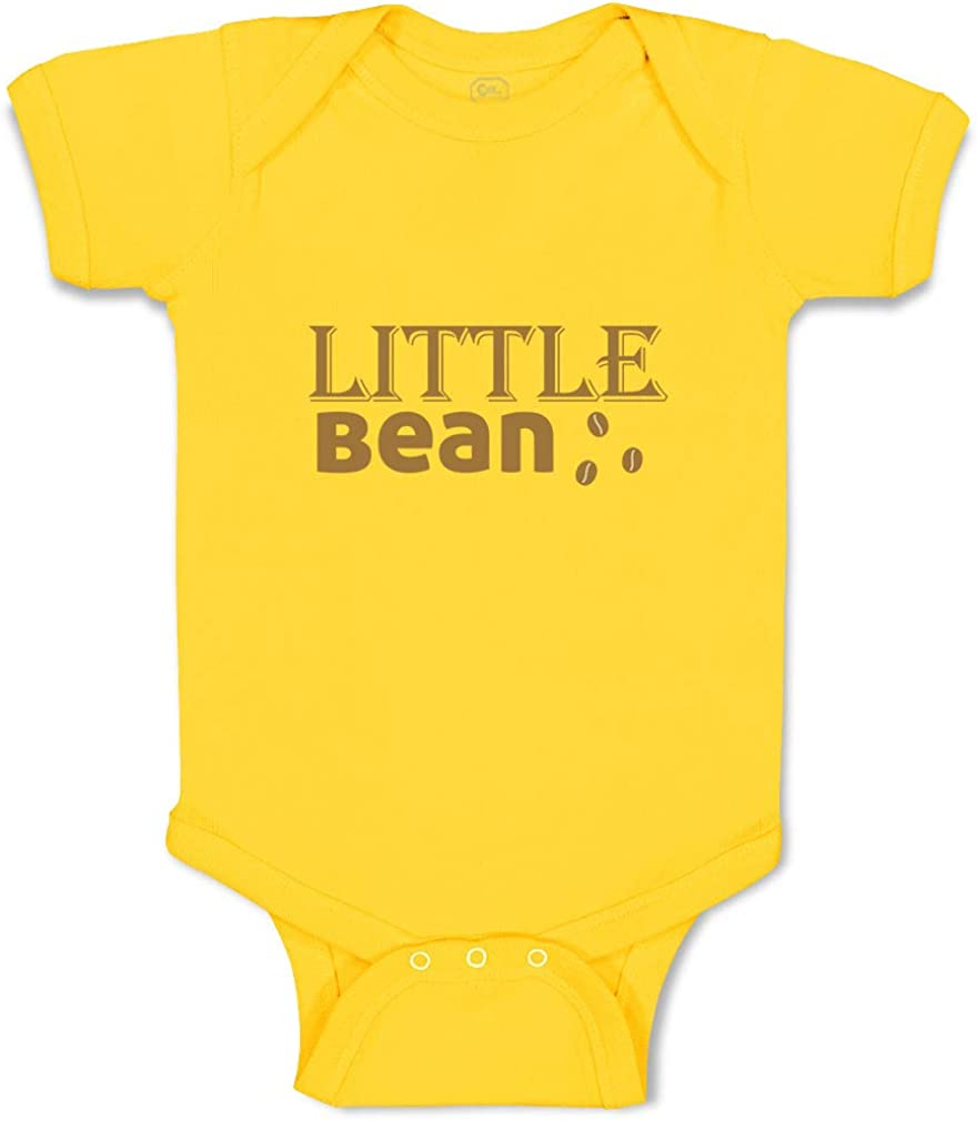 Custom Personalized Boy /& Girl Baby Bodysuit Little Bean A Funny Cotton Clothes