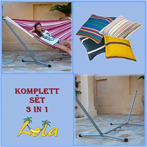 Lola Romana Stabhängematte und Advant Vario silver ohne Rad 3in1 Set