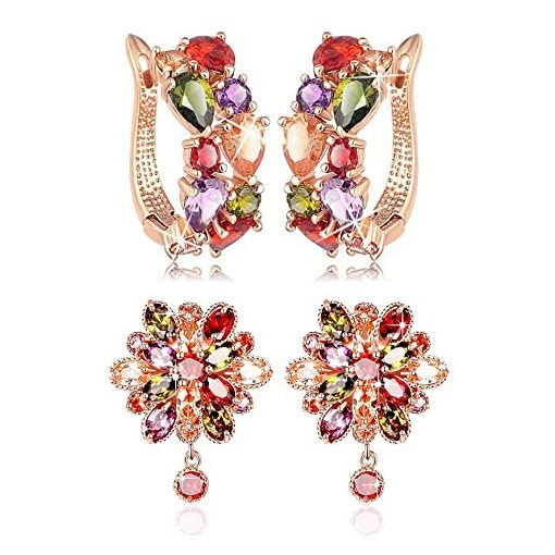 Youbella Jewellery Earrings For Women Combo Of Two Multi-Col