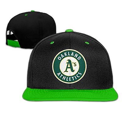 Runy Adult Oakland Athletics Adjustable Hip Hop Hat & Cap