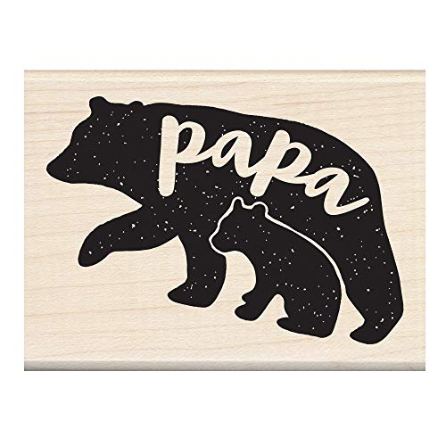 - Inkadinkado Bear Wood Mounted Rubber Stamp for Father's Day Cards and Scrapbooking, 1pc, 3.02''L x 2.23''W