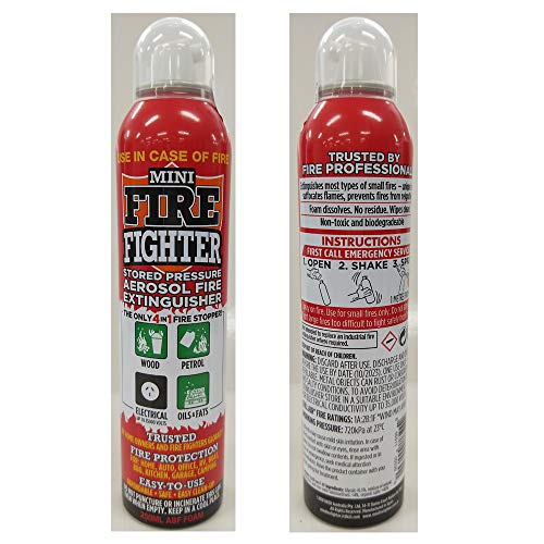 Mini Firefighter MFF01 Purpose Extinguisher Classes ABCK Gasoline, Kitchen Grease Oil and Fats, Electric and Wood Fires for Home Apartment Office Boat RV Camping, 1-Pack ()