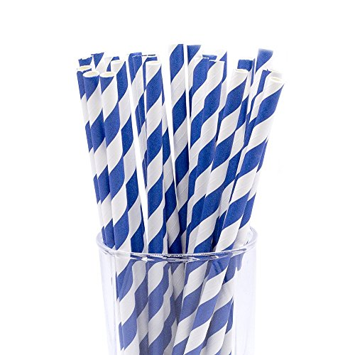 CTIGERS Striped Biodegradable Drinking Straws product image