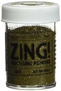Zing glitter embossing powder 1 ounce gold for American crafts zap embossing heat gun