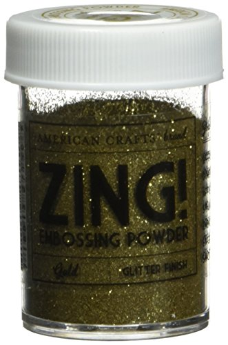 Zing! Glitter Embossing Powder 1-Ounce, Gold by American Crafts
