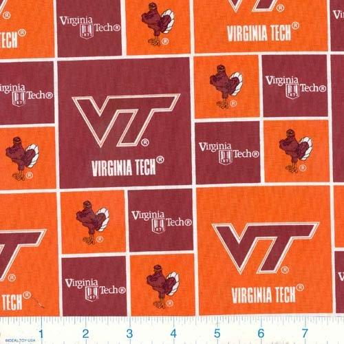Tech Cotton Fabric (Cotton Virginia VA Tech Hokies University College Cotton Fabric Print - svt020s)