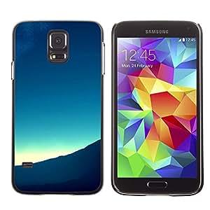 Qstar Arte & diseño plástico duro Fundas Cover Cubre Hard Case Cover para SAMSUNG Galaxy S5 V / i9600 / SM-G900F / SM-G900M / SM-G900A / SM-G900T / SM-G900W8 ( Mountain View Landscape Horizon Sunrise)