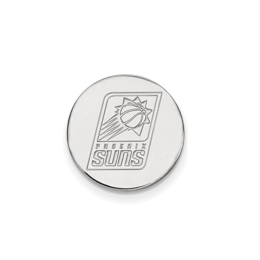 NBA Phoenix Suns Lapel Pin in 14K White Gold