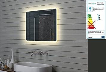 Lux-aqua Design Miroir Mural Miroir Lumineux à LED pour Salle de ...