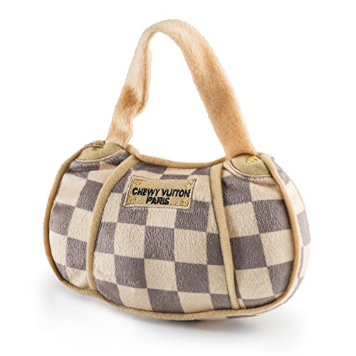 Haute Diggity Dog HDD-006-LG Checker Chewy Vuitton Purse, Large