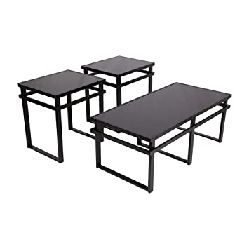Ashley Furniture Signature Design   Laney Glass Top Occasional Table Set    Contains Cocktail Table U0026