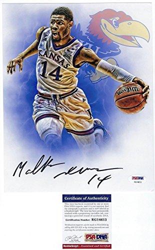 Malik Newman Signed Autograph 8x10 Photo PSA/DNA Certified Kansas Basketball