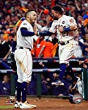 The Houston Astros, Carlos Correa & Jose Altuve During Game 5 Of The 2017 World Series 8x10 Photograph Picture.(game 5)