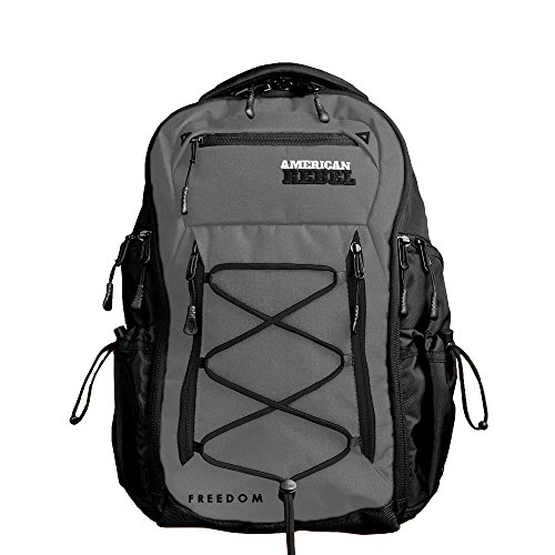 Tactical Concealed Carry Durable Backpack – Medium Grey/Black Freedom Bag for Every Day Use – American Rebel Inc. For Sale