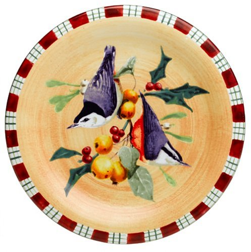Lenox Winter Greetings Everyday Stoneware Nuthatch Salad Plate 6053060