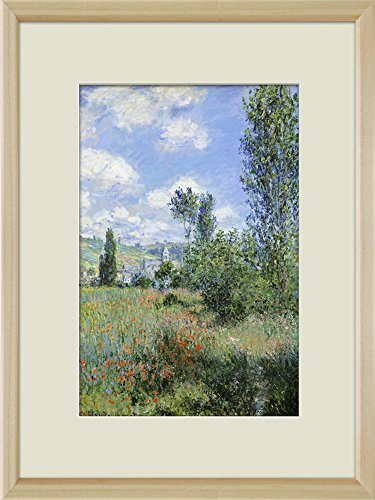 Creative 3D Visual Effect Wall Mural Path on the Island of Saint Martin Vetheuil by Claude Monet Peel Stick Wall Decor