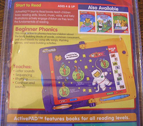 ActivePad, Beginner Phonics, Start to Read (Interactive Book and Cartridge for use with ActivePad) by activePAD (Image #3)