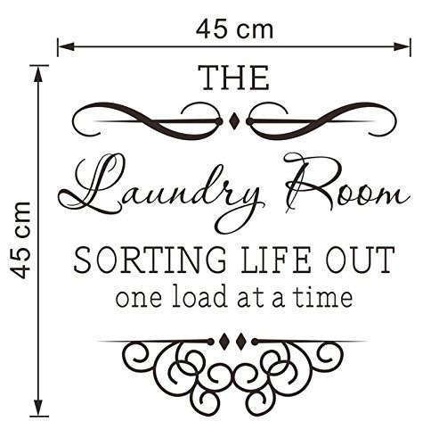 Asien Wall Art Stickers - Wall Decals - Wall Murals 4545cm The Laundry Room Wall Stickerfor Home Decor Decoration - Lounge Bathroom Kitchen Office Bedroom
