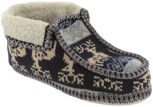 Group Five Norway Slipper Ladies Comfortable Decorated Women's Slip-On Bootees Black T7QbY12