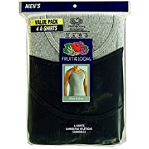 Fruit of the Loom Men's Premium Assorted A-Shirt (Pack of 4)