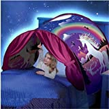 Ruiying Kids Play Tent Pop Up Bed Tent Childs Playhouse for Boys Girls Fun Plays Christmas & Birthday Gifts (Unicorn Fantasy)