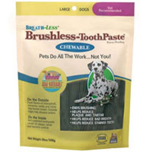 Breathless Brushless Toothpaste For Dogs, 18 Oz, Large by Ark Naturals (Pack of 3)