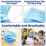 Disposable Face Mask, Esolom 3-Ply Facial Cover