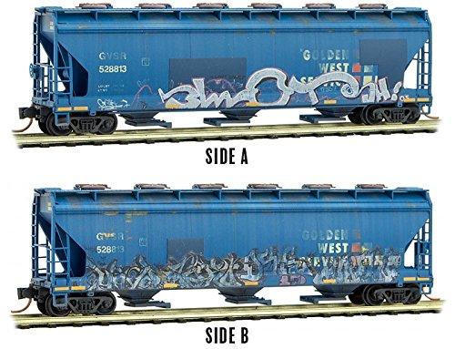 Micro-Trains MTL N-Scale CF Covered Hopper Golden West/GWS #528813 Graffiti