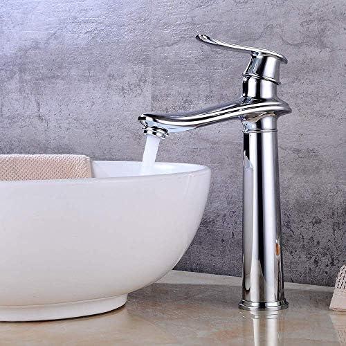 立体水栓 蛇口 実用的な美しい新しいヨーロッパ流域の蛇口洗面台浴室カウンターハイとローの温水と冷水の蛇口 万能水栓 台付