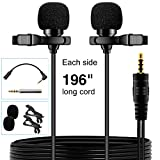 PoP voice Premium 16 Feet Dual-head Lavalier Microphone Review and Comparison