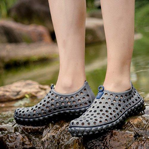 Tezoo Beach Schuhe, Sommer Herren Mesh Sandale Rutschfeste Super Soft Leicht Für Hausgarten Outdoor Sports Wandern Grau