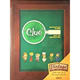 Parker Brothers Vintage Game Collection Wooden Book Box Clue