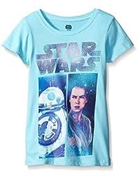 Star Wars Big Girls' The Force Awakens Episode 7 BB-8 Graphic Tee
