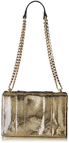 Halston Heritage Chain Shoulder Handbag - Gold - One Size