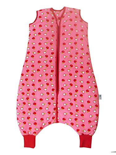 Slumbersac Sleeping Bag with FEET 2.5 Tog-Simply Red Apple - 3-4 years/43 inch