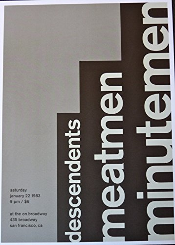 Minutemen - Live in San Francisco 1983 - Rare Concert Advertising Poster - 10x14 - Descendents - - Broadway 151