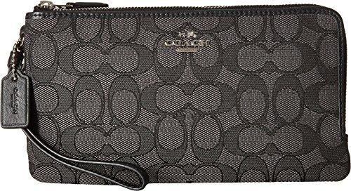 Free COACH Women's Signature Double Zip Wallet