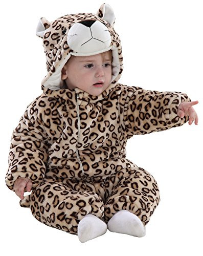 Baby Boys Infant Animal Winter Romper Bunting Snowsuit Coat 12-18 Months Leopard - Leopard Baby Bunting