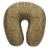 CRSJBB219 Golden Heart Wood Grain Travel Pillow,Neck Pillow, Airplane Pillow,Travel Neck Pillow-Supports The Head,Neck and Chin,U-Shaped Pillow