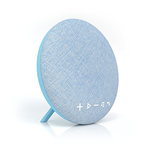 Tzumi Deco Series Speaker – Large Wireless Bluetooth Fabric Speaker – Add Powerful Sound And Ambiance to Any Room Blue