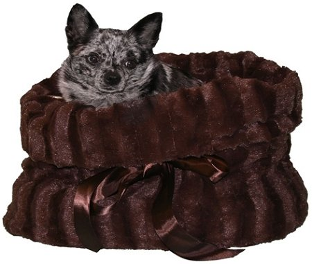 Pet Flys Brown Reversible Snuggle Bugs Pet Bed, Bag and Car Seat In (1 Reversible Bed)