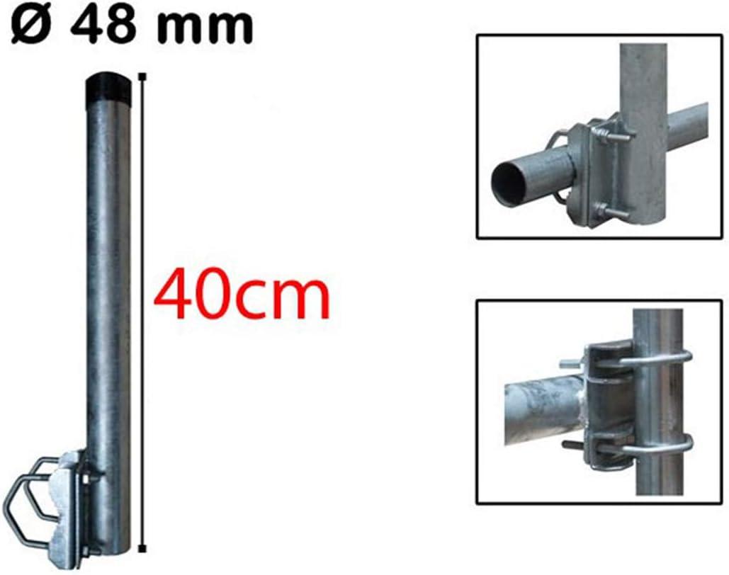 Premiumx Balkon Halter 40cm Ø 48mm Stahl Mast Elektronik