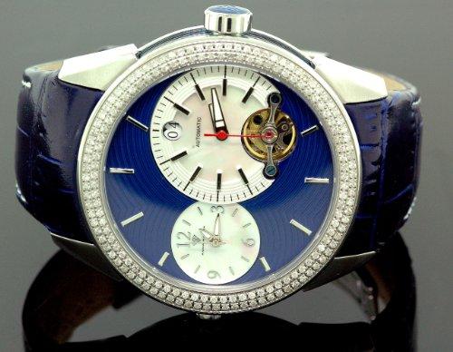 Aqua Master Diamond Automatic Black Mens Watch 1.75 ct w-317b by Aqua Master