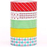 Scatola 5 nastri adesivi decorativi Washi mt pop
